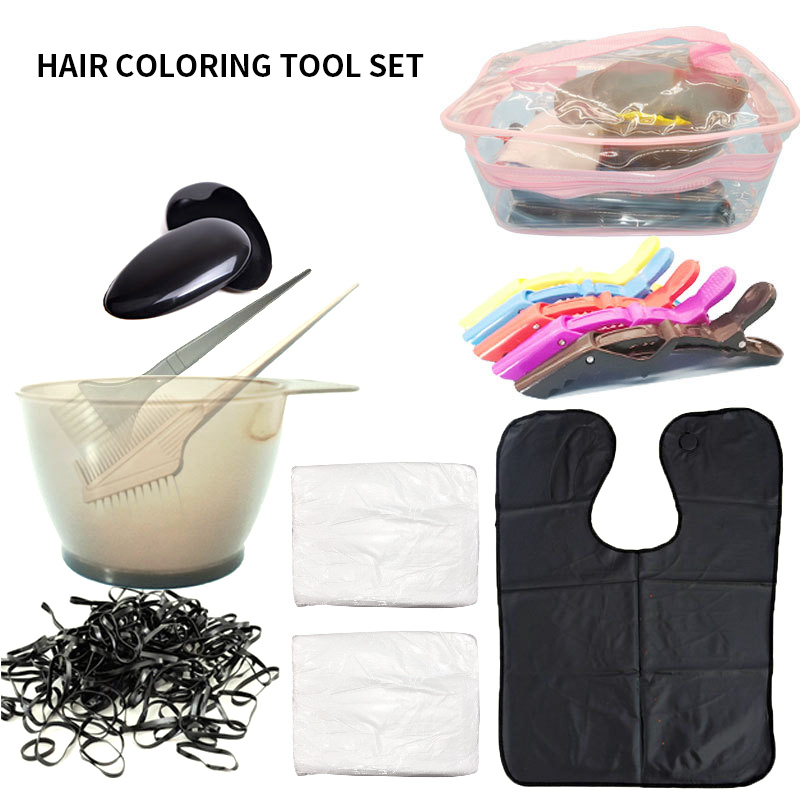 Hair Coloring Dyeing Kit Color Brush Comb Mixing Bowl Salon Tint Tool Set Hair Color Brushes Professional Hairdressing Tools
