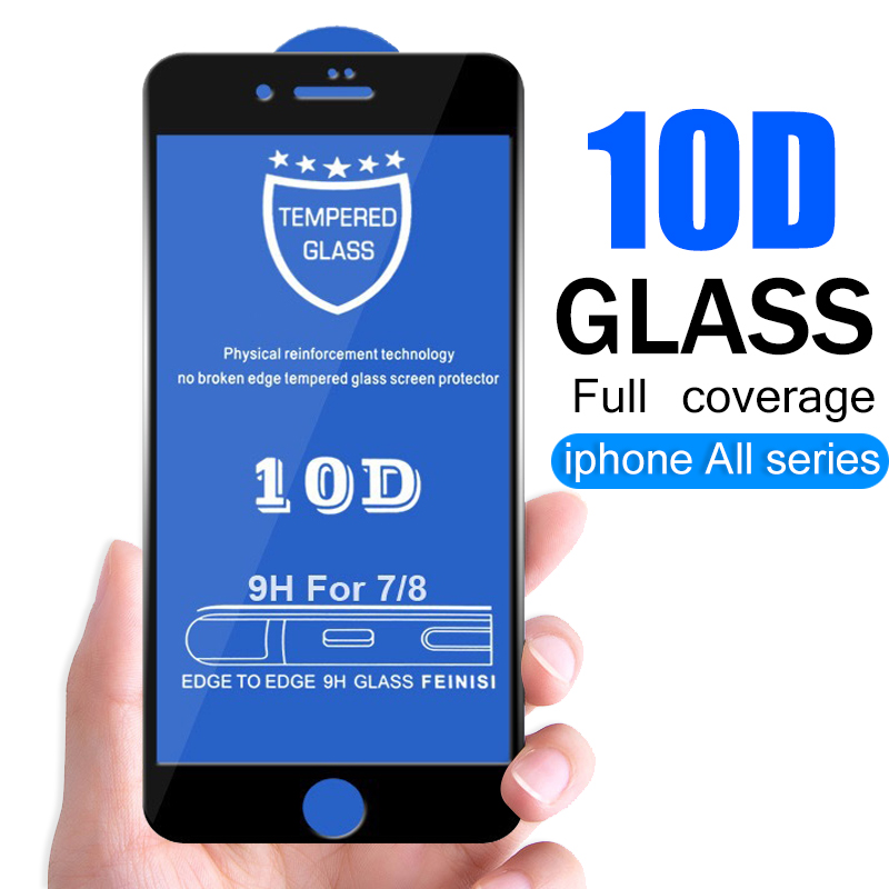 10D Protective Glass Glass for iPhone 7 6 X Screen Protector iPhone X Xr Xs Max Tempered Glass on iPhone 7 8 6 6s Plus Xs glass 1