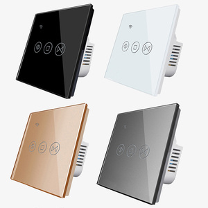 Image 4 - Free Shipping EU Standard Electric Wall Curtain Controller Smart Home Automation Touch Switch Open Pause Close Tuya app