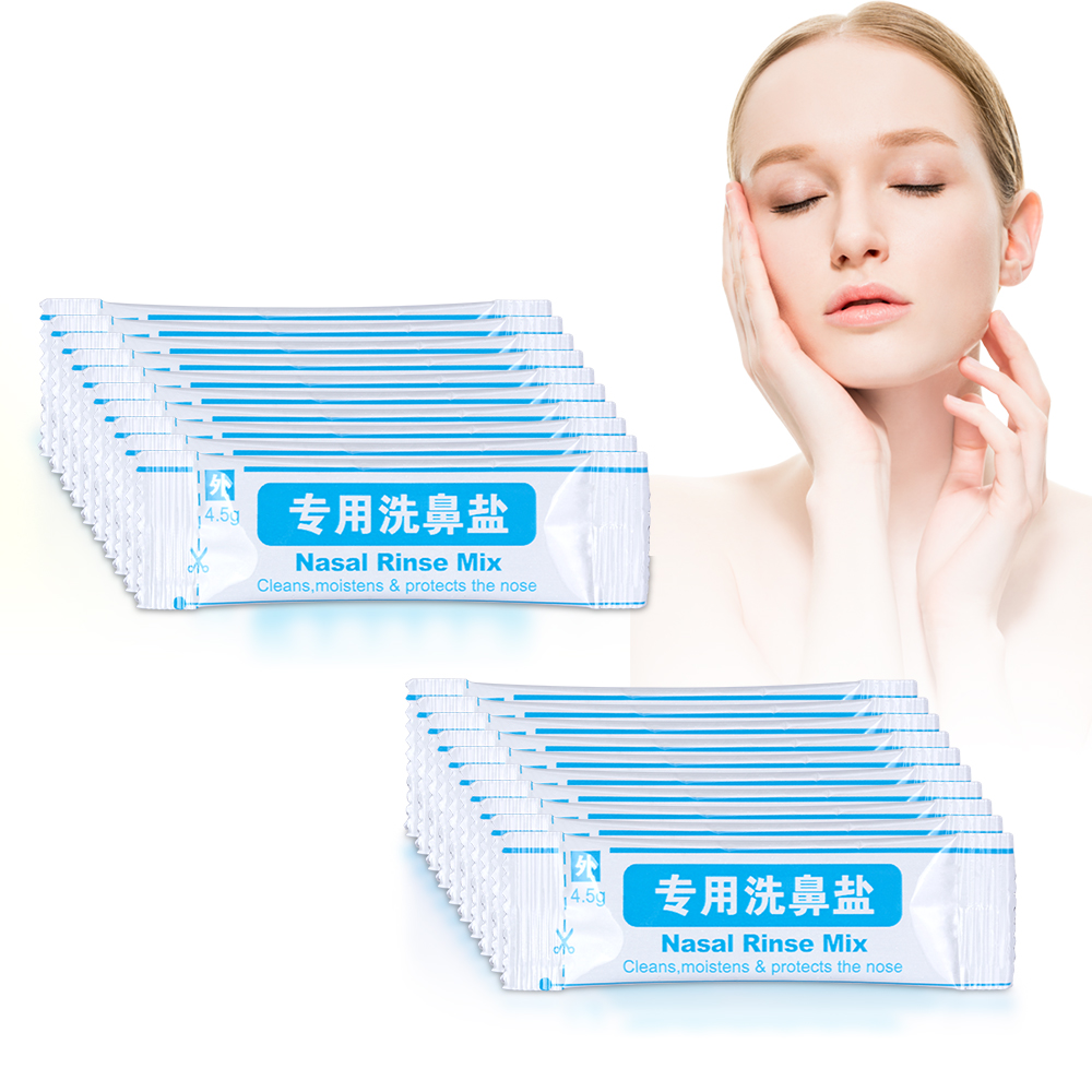 20 Bags Nasal Wash Salt 4.5g/bag For 500ML Nasal Wash Cleaner Neti Pot Nose Wash System Sinus & Allergies Relief Drop Shipping