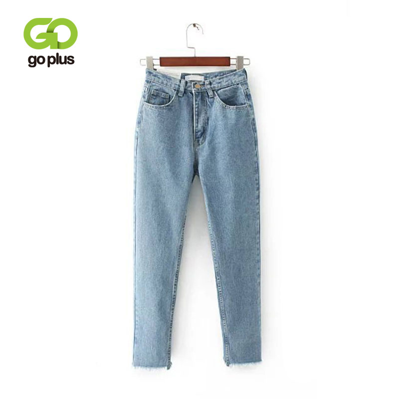 GOPLUS femmes Jeans petits amis Taille haute maman Jeans Streetwear Denim sarouel gland frange Jeans Femme Grande Taille Femme