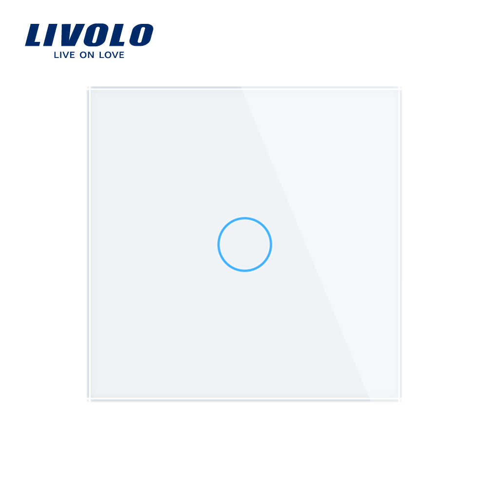 Livolo Eu Standard Muur Light Remote Touch Switch,1Gang 1way ,Glass Panel,220 ~ 250V ,C701R-1/2/3/5, Geen Afstandsbediening, Geen Logo