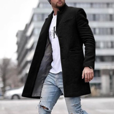 Autumn And Winter Fashion Pure Color Long Warm Coat Lahore