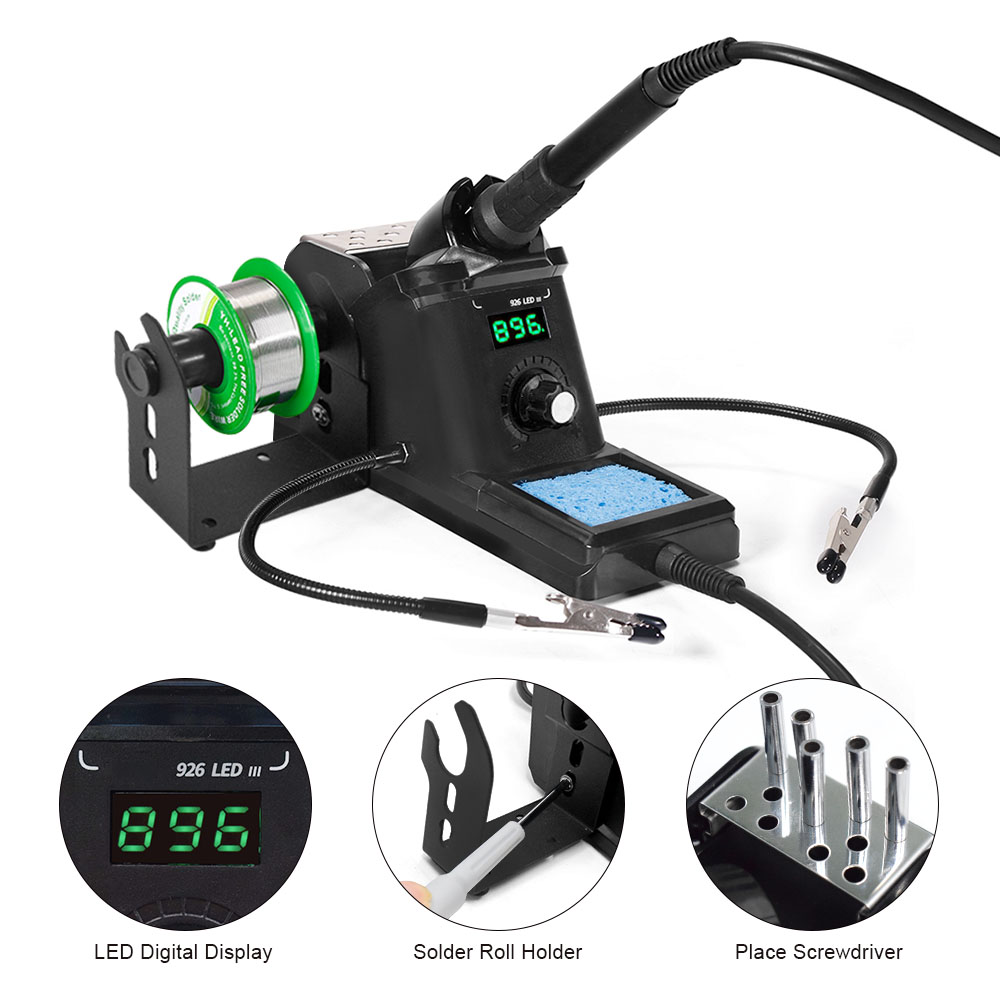 926 LED-III 60W Digital Soldering Station Iron Set welding Rework Station For Cell-Phone BGA SMD PCB IC Repair Solder Tools