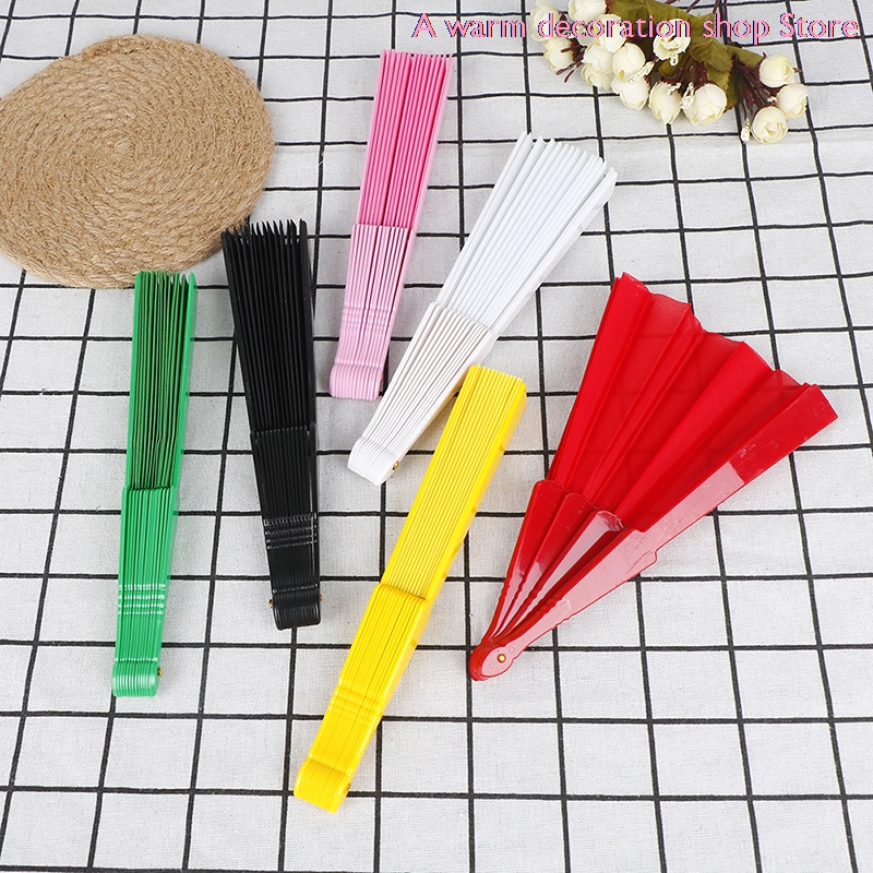 Room Decoration Gift Craft Bamboo Hand Hold Folding Fan Party Wedding Supplies