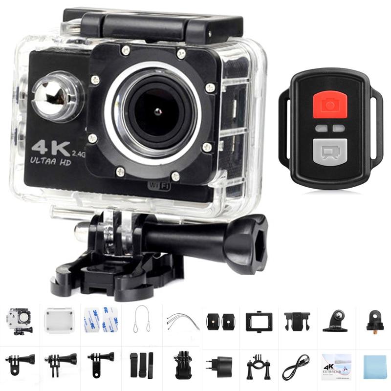 "Ultra HD 4K Action Camera WiFi 2.0"" 1080P Sport Camera DVR 170D Go Waterproof pro cam Bike Helmet Mini DV Camera Remote Control"