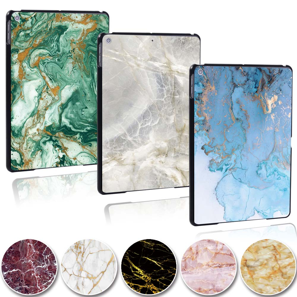 KK&LL For Apple iPad 2019 7th Gen 10.2 inch A2200 A2123 tablet PC Plastic marble pattern Slim Stand Case Cover image