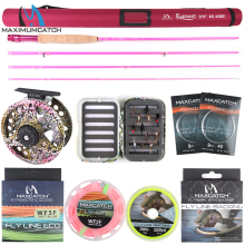 Maximumcatch 9FT #5 Fly Fishing Rod Kit and Reel Combo with Lure Line Box Set Tackle