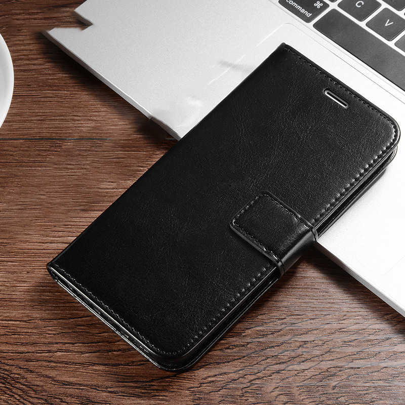 Fashion Kwaliteit Pu Leather Flip Wallet Case Voor Iphone 11 Pro Max Xs Xr 10X7 8 Plus 5 5S 6 6S Se Retro Zachte Tpu Telefoon Cover