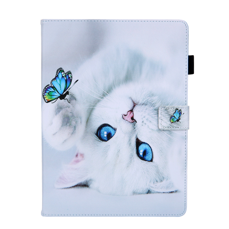 B White Tablet Cover For Apple IPad Air 4 10 9 inch 2020 Cartoon Leather Case For Ipad