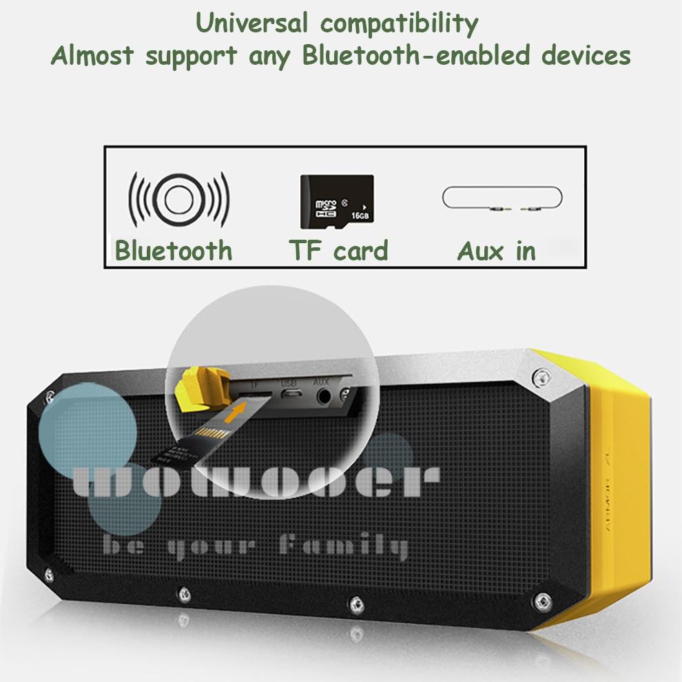 Carte TF haut-parleur caixa de som bluetooth haut-parleur portable extérieur sans fil boombox haut-parleurs parlante homtime bluetooth haut-parleur aux dents