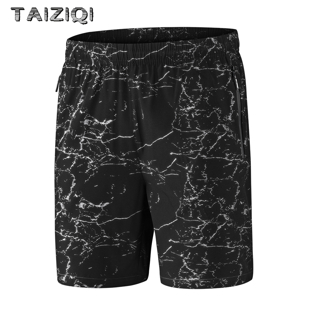 TAIZIQI Camouflage shorts gym clothing Outdoor Print Elastic Waist zipper pocket easily Washing Shorts Pants For Men 8866