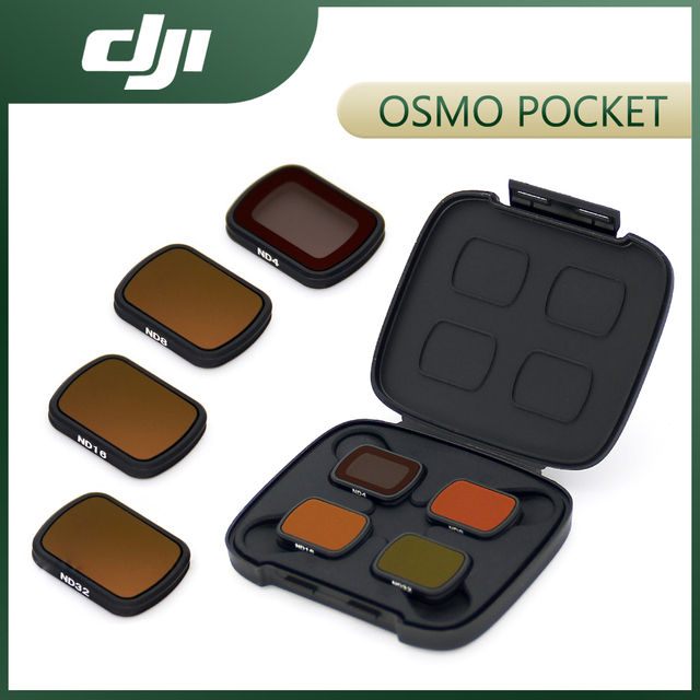 DJI Osmo جيب ND مرشحات مجموعة ل DJI جيب 2 ND 4 8 16 32 مع ضوء عالية الجودة الحد المواد DJI الملحقات الأصلية