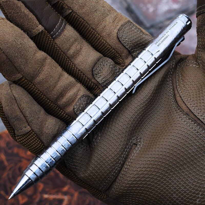 Image 4 - EDC チタン合金自己防衛サバイバル安全戦術的なペン鉛筆ライティング多機能タングステン鋼ヘッド EDC ツール -    グループ上の スポーツ