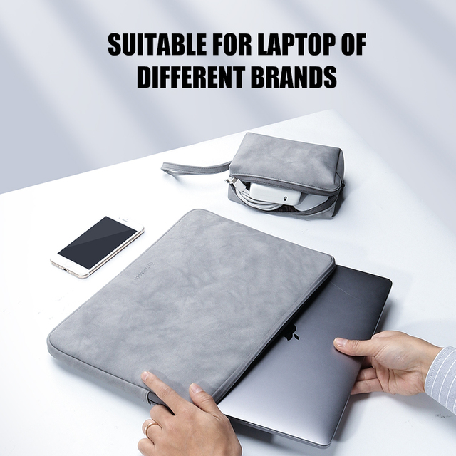 Laptop Sleeve Case 13 14 15.4 15.6 Inch For HP DELL Notebook bag Carrying Bag Macbook Air Pro 13.3 Shockproof Case for Men Women 3