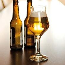 BARRA DE VIDRIO de cerveza italiana Borgonovo, vaso de cristal de tulipán, color negro