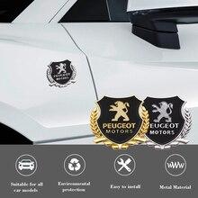 2 Stuks Metalen Auto Side Window Deur Decoratie Lichaam Badge Sticker Decals Voor Peugeot 206 207 307 3008 2008 308 408 508 301 208