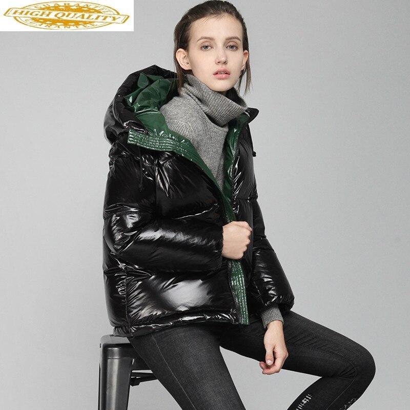 Women's Winter Down Jacket Woman Hooded 90% White Duck Down Coat Winter Warm Puffer Jacket Korean Short Jackets 2020 Y184Y06
