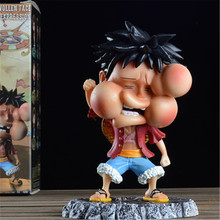 ONE PIECE Q version Childhood Luffy A series of Anime Action Figure Model Manga Toys Collection Gifts