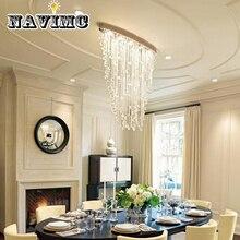 Элегантный овальный занавес стиль роскошный современный светодиодный хрустальная люстра для гостиной ресторана отеля