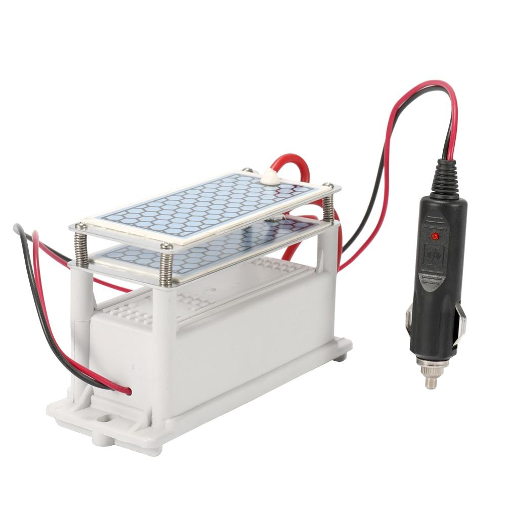 Portable Vehicle 10g/h DC12V Ozone Generator Long Life Ceramic Plate Generator Ozonizer Air Water Air Purifier Car Sterilization