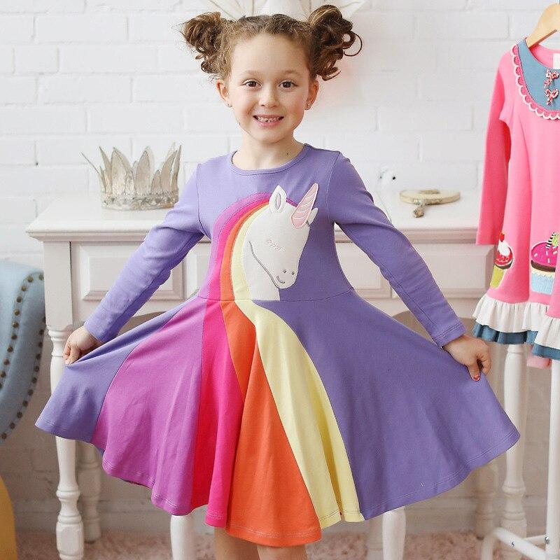 2020 New Girls Unicorn Dress Series Rainbow Children Baby Princess Dress For Girl Easter Dress Summer Wedding Party Dress