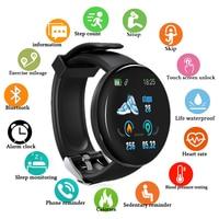 Doolnng Bluetooth Смарт-часы мужские кровяное давление круглые умные часы женские часы водонепроницаемые спортивные трекер WhatsApp для Android Ios
