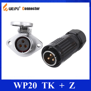 Image 1 - Original Weipu Connector WP20 TK Z 2 3 4 5 7 9 12 สายเชื่อมต่อปลั๊กกันน้ำรถ power CHARGING CONNECTOR