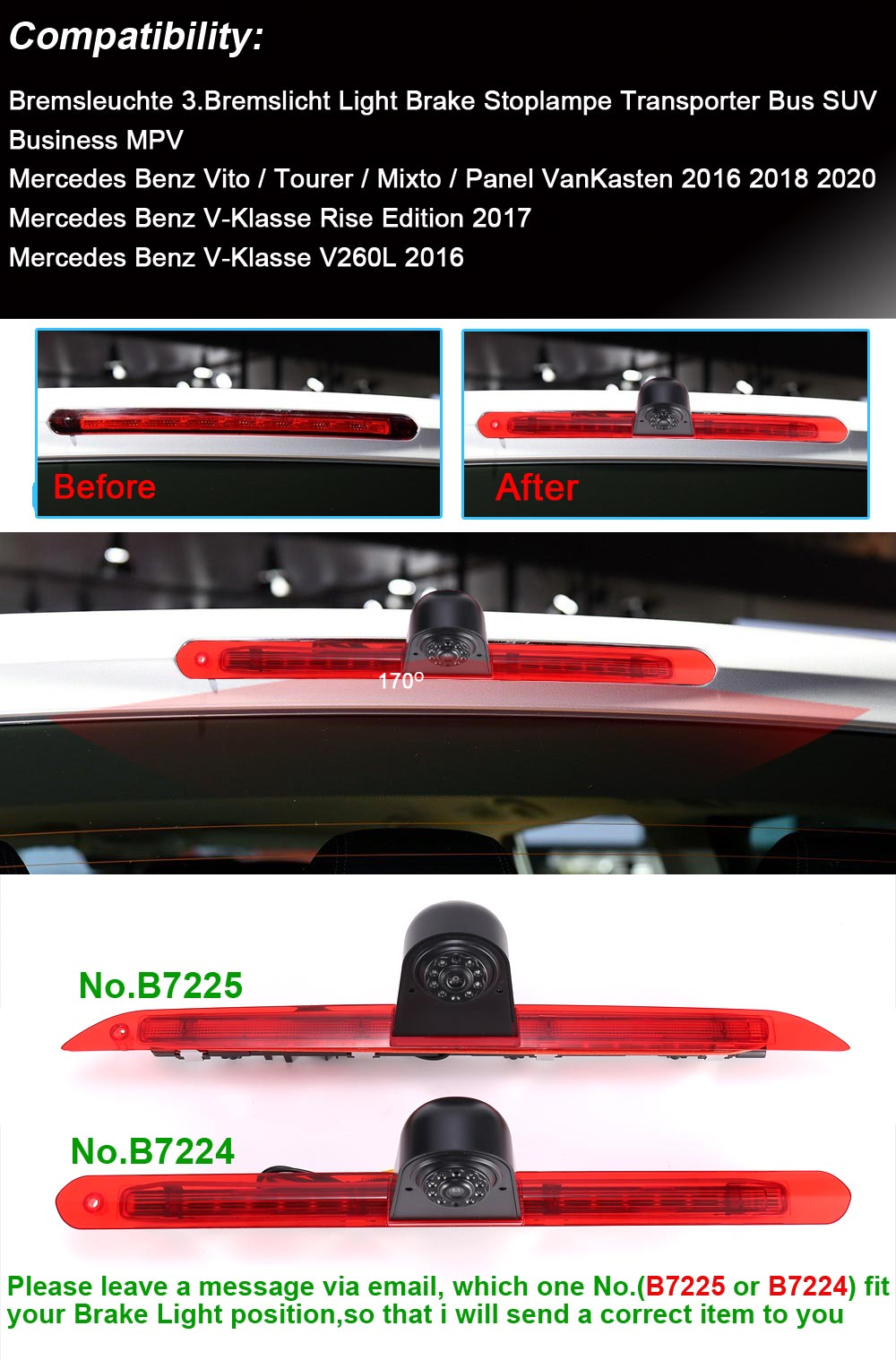 hd parking car camera for mercedes benz vito tourer mixto panel vankasten centre high mount stop lamp parking light vehicle camera aliexpress aliexpress