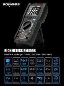 Digital-Multimeter-Tester Capacitance RM406B Profissional Dc Dc 10000 Anti-Burn-Alarm