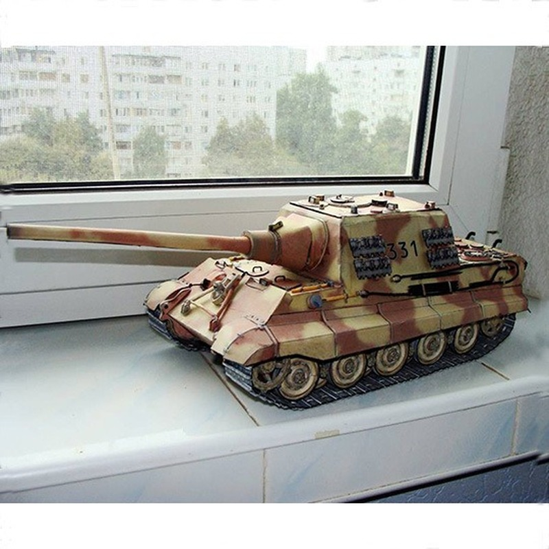 1:25 German Hunter Heavy Tank DIY 3D Paper Card Model Building Sets Construction Toys Educational Toys Military Model