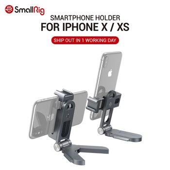 SmallRig uniwersalny uchwyt na smartfona dla Iphone X XS vlogging Cage 360 stopni regulacja pan i regulacja nachylenia 270 stopni 2415