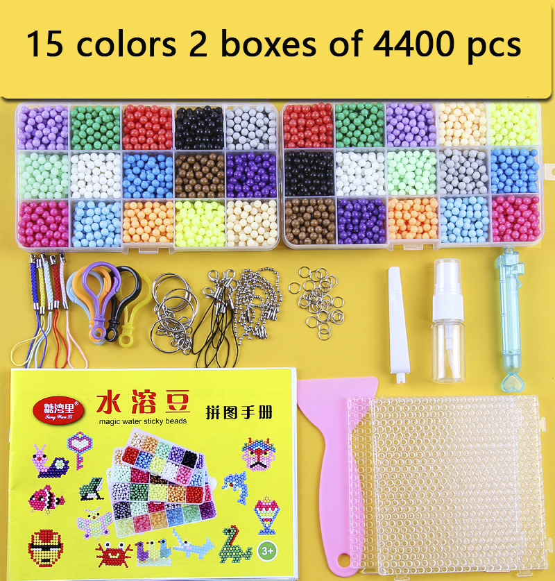 DIY Water Magic Beads Set Toys For Children Animal Molds Hand Making Puzzle Kids Educational