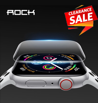 2pcs For Apple Watch Screen Protector for iWatch 4 3 2 ROCK Hydrogel Full Protective Film of 38mm 40mm 42mm 44mm - discount item  40% OFF Mobile Phone Accessories