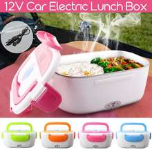 12V Auto Plug Elektrische Verwarming Lunchbox Voedsel Heater Draagbare Bento Box Office Thuis Voedsel Warmer met Verwijderbare Container lepel(China)
