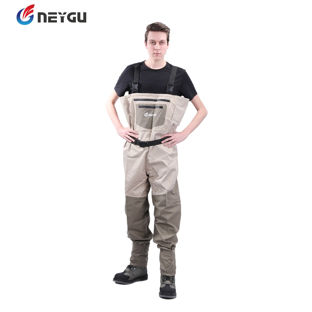 Neygu outdoor fishing wader , waterproof chest wader, breathable wader pants with stocking foot