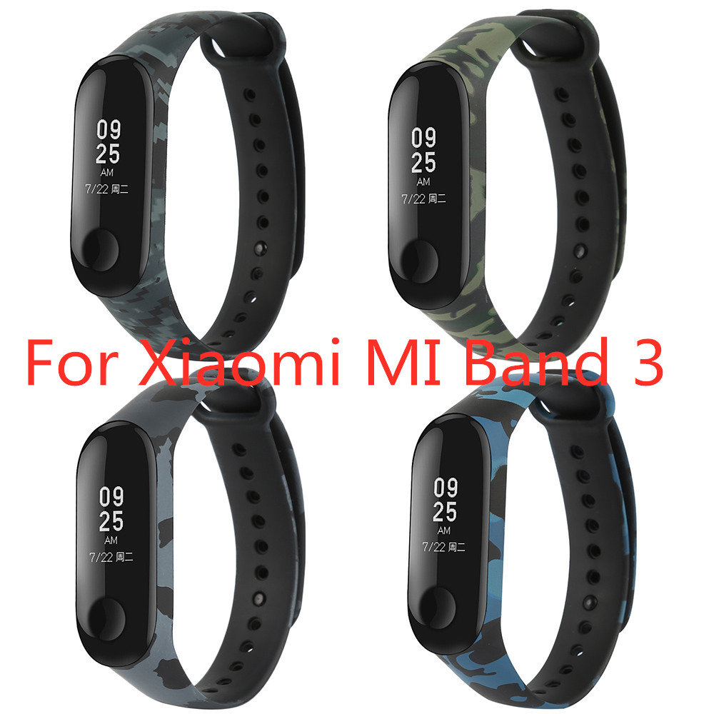For Mi Band 3 Pulseira Soft Silicone Wrist Strap For Camouflage Non-slip Replacemet Wristband For Mi Band 3 Bracelet Accessory