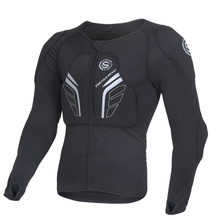 Star Field Motocross Protection Jacket, Racing Body Armor and Motocross, Black Red