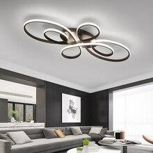 Поверхностного монтажа современные светодиодные потолочные лампы для гостиной, спальни, кабинета, кофейного или белого цвета, светодиодный потолочный светильник 110 240 В
