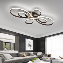 Sıva üstü Modern Led tavan ışıkları oturma odası yatak odası çalışma odası için kahve veya beyaz bitmiş led tavan lambası 110 240V