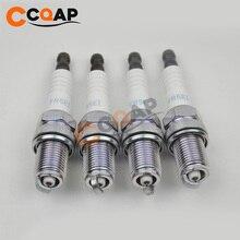 4 個FR5EI MN163235 FR6EIイリジウムスパークプラグ三菱アウトランダープジョー 4007 シトロエンFR6EI MN163236