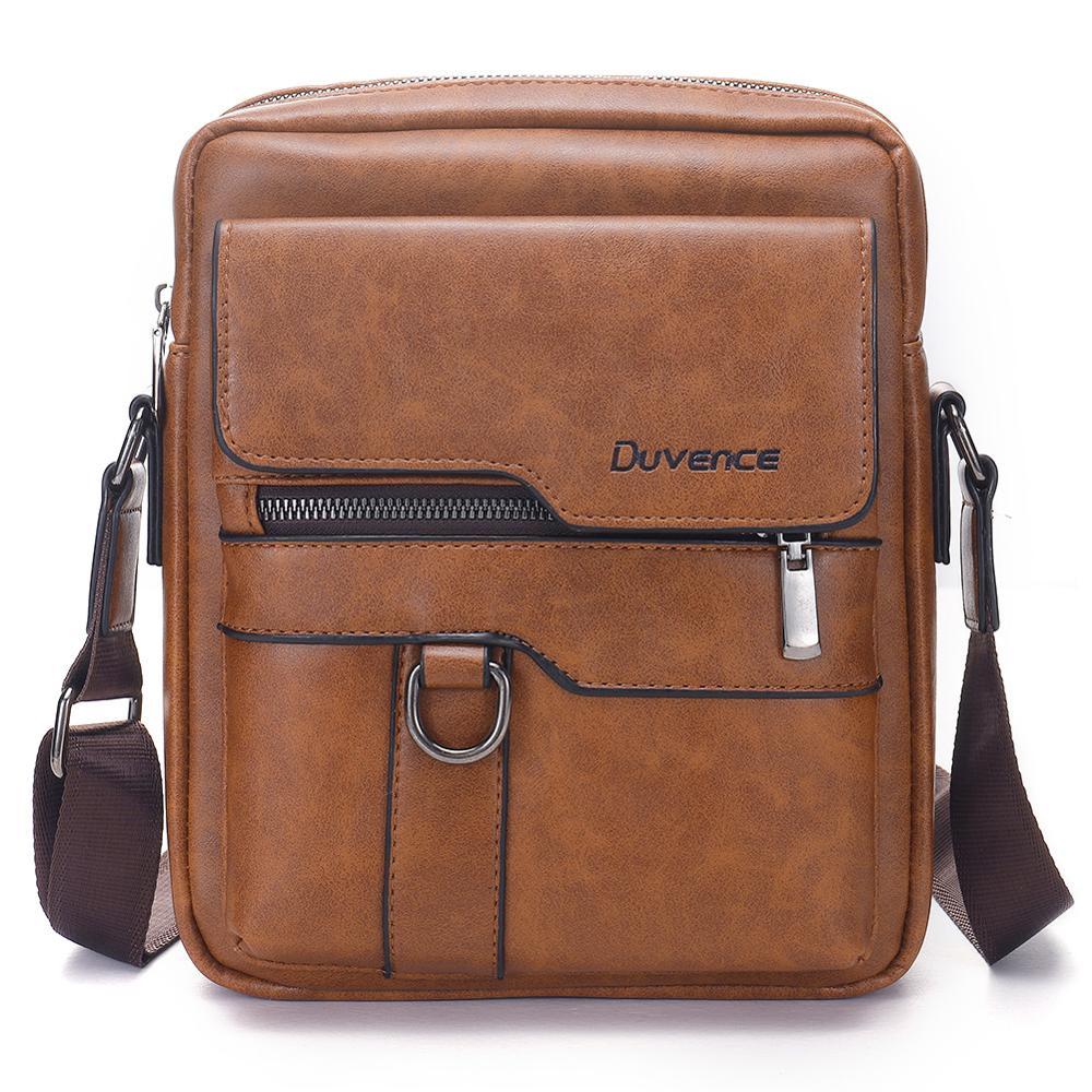 Retro Men Bag PU Leather Men Shoulder Bags For 10.5