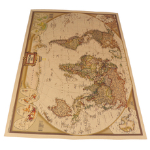 Poster Wall-Chart World-Map Retro-Paper Map-Of-World Matte Home-Decor Antique Vintage