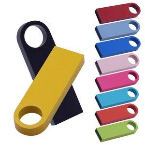 Metal Pen Drive cute Pendrive Usb Flash Drive 2.0 Cle Usb Memory Stick Flash Usb Stick U Disk custom logo 4GB 8GB 16GB 32GB