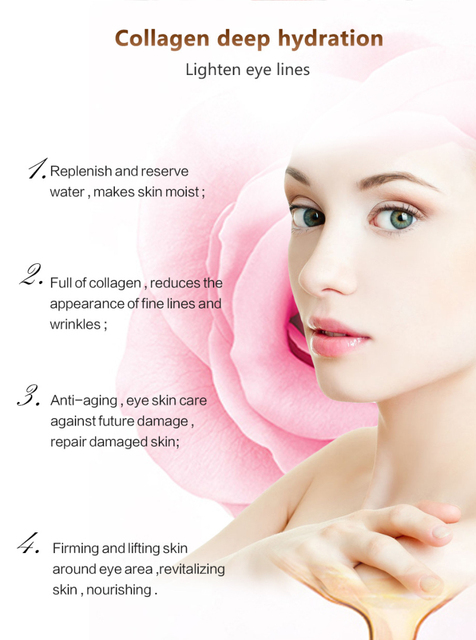 1Pair Collagen Crystal Eye Mask Serum Eye Patches Under Eyes Pad Dark Circle Puffiness Remove Anti-aging Collagen Eye Pads TSLM1 5