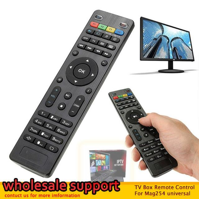 LEORY Replacement TV Box Remote Control For Mag254 Controller For Mag 250 254 255 260 261 270 TV For Set Top Box Wholesale