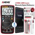 ANENG AN9002 Bluetooth цифровой мультиметр 6000 отсчетов Профессиональный MultimetroTrue RMS AC/DC тестер напряжения тока авто-диапазон