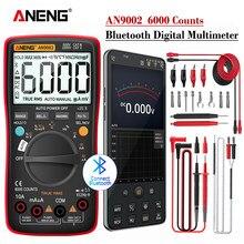 ANENG – multimètre numérique professionnel AN9002, Bluetooth, 6000 points, multimètre true RMS, testeur de tension de courant AC/DC, gamme automatique