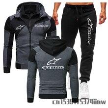 2021 Alpinestars Zipper Clothing Jacket Men Cotton Sweatshirt Hoody Spring Autumn Harajuku Male Fleece Sportwear Hoodies