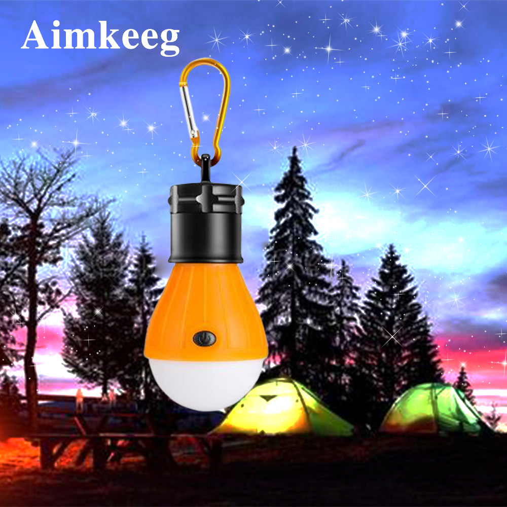 Portable LED Bulb Emergency Lamp Mini 3 Mode Hanging Hook Flashlight Carabiner Oudoor Waterproof Tent Light  For Camping Lighing